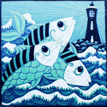 Kerry Tremlett fish and lighthouse